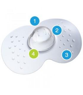 MAM Pezonera Silicona Nipple Shields 2 Unds T- Pequeña