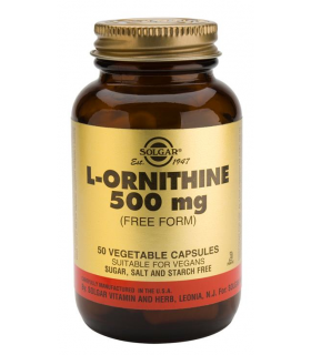 Solgar L-Ornitina 500 Mg 50 Capsulas