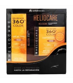 Heliocare 360º Gel SPF50 Oil Free 50 ML + Cushion SPF50 Compact 15G