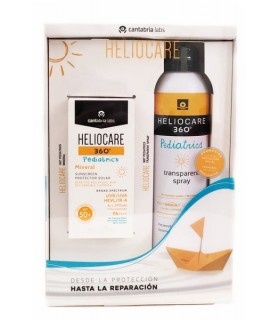 Heliocare Pack Pediatrics Spray SPF50 Transparente 200 ML + Mineral SPF50 50 ML