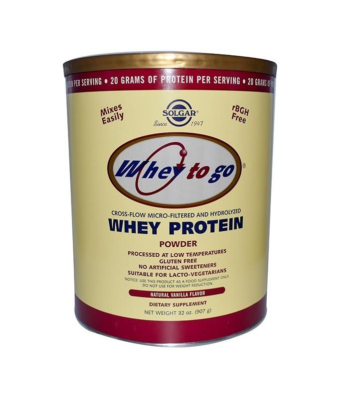 Solgar Whey To Go Proteína De Suero En Polvo Vainilla 907 G