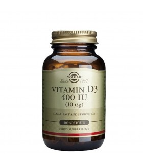 Solgar Vitamina D3 400 UI 100 Capsulas