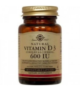 Solgar Vitamina D3 600 Ui 60 Capsulas