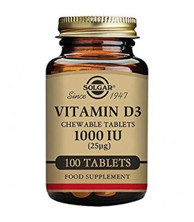 Solgar Vitamina D3 1000 IU 100 Capsulas