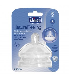 Chicco Tetina Natural Feeling Silicona 6M+