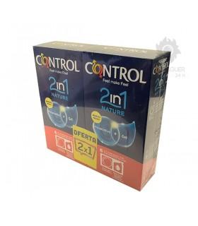Control 2in1 Nature Preservativos + Lubricante 6 Unidades + 6 Uds Gratis