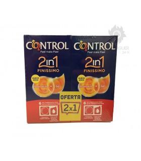 Control 2in1 Finissimo Preservativos + Lubricante 6 + 6 Unidades Gratis