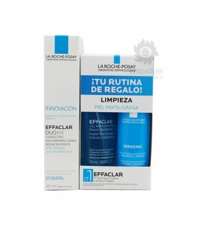 Effaclar Duo Anti-Imperfecciones 40 ml + Effaclar Gel Limpiador 50 ml + Serozinc 50 ml