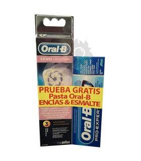 Recambio Oral-B Sensiultrathin + Pasta Oral-B Encias & Esmalte Gratis