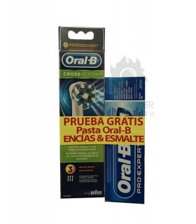 Recambio Oral-B Crossaction + Pasta Oral-B Encias & Esmalte Gratis