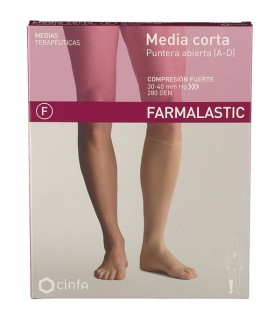 Farmalastic Media Corta Compresion Fuerte Extra-Grande