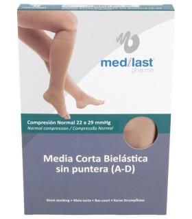 Medilast Media Corta Sin Puntera (A-D) Talla Grande