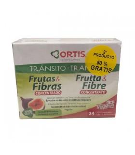 Ortis Frutas & Fibra  Concentrado 24 Cubos + 2ª Unidad 50%