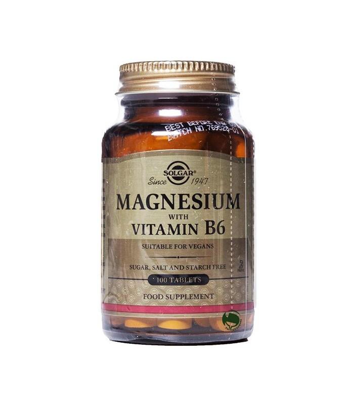 Solgar Magnesio + B6 100 Comprimidos
