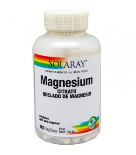 Solaray Magnesium Citrate 400 Mg 180 Capsulas