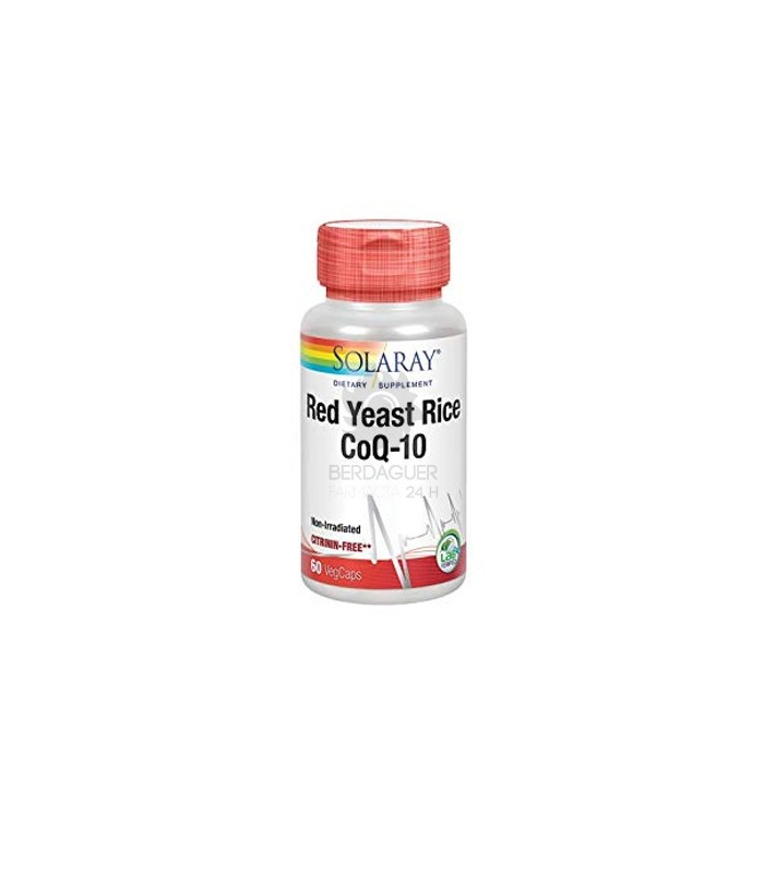 Solaray Red Yeast Rice Plus Coq10 60 Capsulas