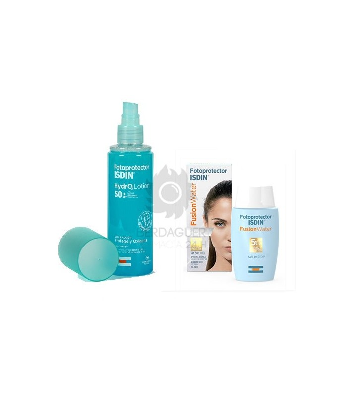 Isdin Pack Fusion Water SPF50 50 ml + Hydro 2 Lotion SPF50 200 ml
