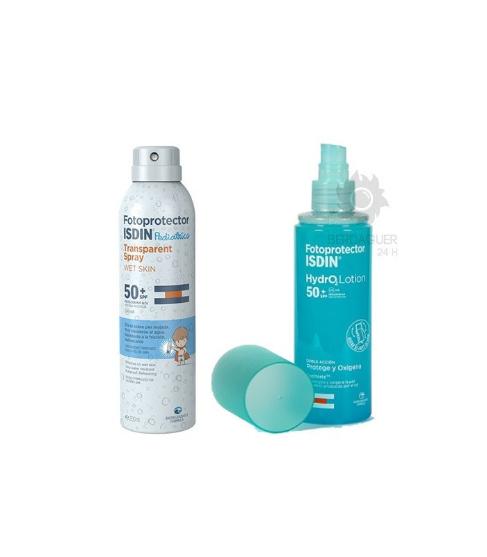 Isdin Pack Pediatrics Wet Skin Spray SPF50 250 ml + Fotoprotector Isdin Hydro 2 Lotion SPF50 200 ml
