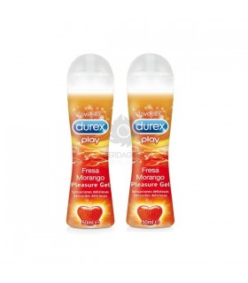 Durex Play Fresa Pleasure Gel Lubricante Hidroso Duplo 2 X 50 Ml
