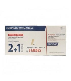 Ducray Anacaps Progressiv 2+1 de Regalo 3x30 cápsulas