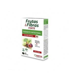 Frutas y Fibras Forte tránsico Intestinal acción rápida 24 Comprimidos