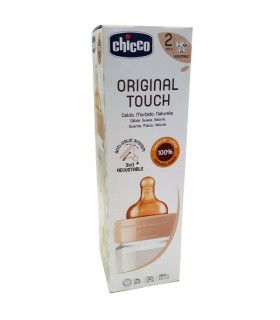 Chicco Original Touch Biberon Plastico Neutro 2M+ Flujo ajustable 250 ml