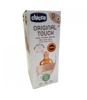 Chicco Original Touch Biberon Vidrio 0M+ Flujo Lento 150 ml