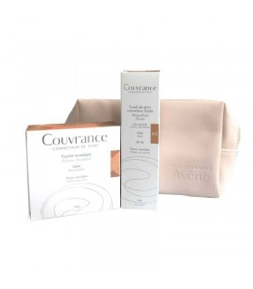 Avene Neceser Couvrance Polvos Mosaico 10G + Couvrance Maquillaje fluido Miel SPF20 30 ml