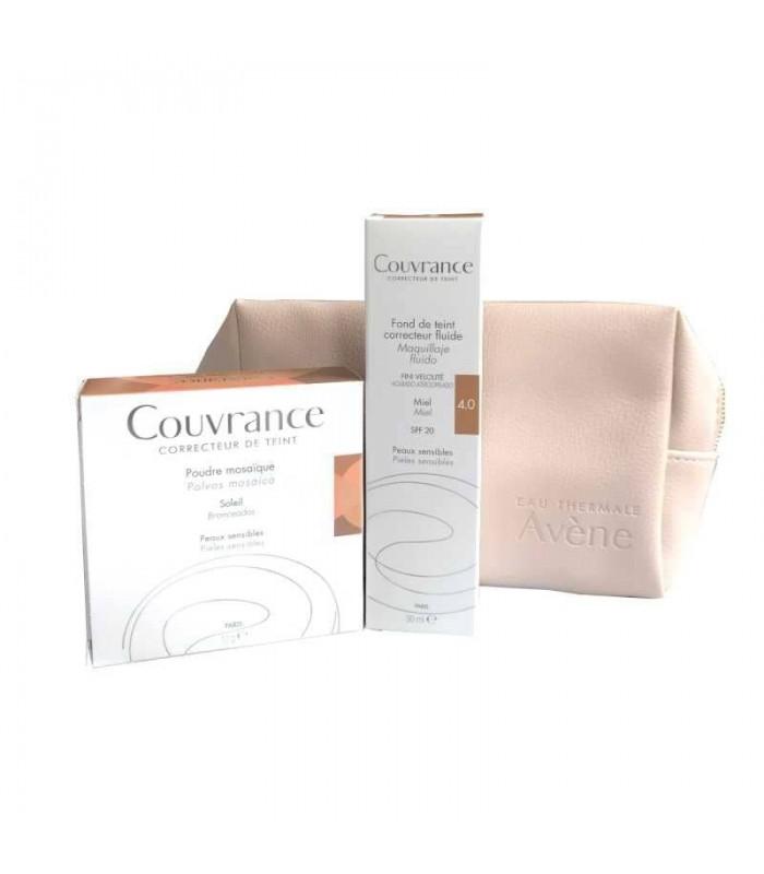 Avene Neceser Couvrance Polvos Mosaico 10G + Couvrance Maquillaje fluido Miel SPF20 30 ml