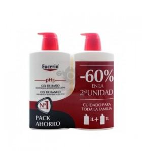 Eucerin Gel De Baño Ph5 1L Duplo 60% 2ª Unidad