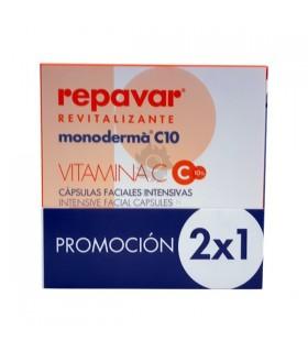 Repavar Revitalizante MonodermÁ C10 28 Capsulas Faciales Intensivas Promocion 2X1 P.Desvitalizadas