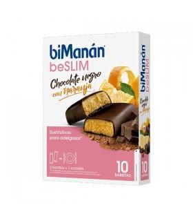 Bimanan beSLIM Barrita Chocolate Negro Y Naranja 10 barritas