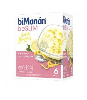 Bimanan beSLIM Natillas Sabor Limon 50 G 6 Sobres