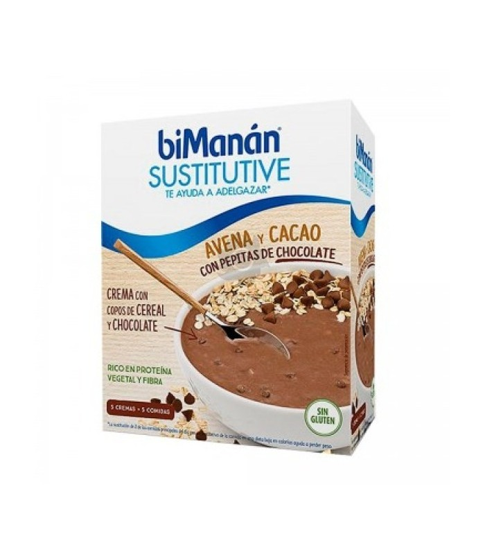 Bimanan Sustitutive Crema Avena Y Cacao Con Pepitas De Chocolate 5 X 55G
