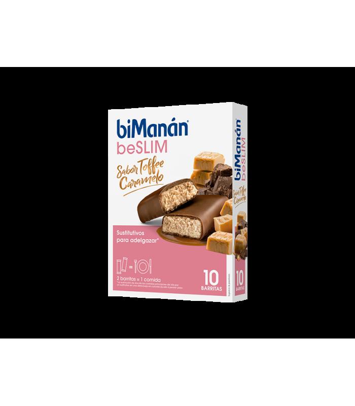 Bimanan BeSLIM Barritas Sabor Toffe Caramelo 10 uds
