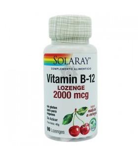 Solaray Vitamina B-12 Lozenge 2000 Mcg 90 Capsulas