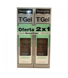 Neutrogena T-Gel Champú Anticaspa Cabello Graso 2x1