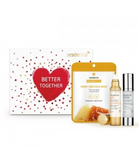 Sesderma Pack Better Together C-Vit Fluido Luminoso 50 Ml + Acglicolic Crema Gel 50 Ml + Mascarilla