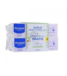 Mustela Duplo Crema Pañal 100Ml+100Ml + Toallitas Regalo 70 Unidades